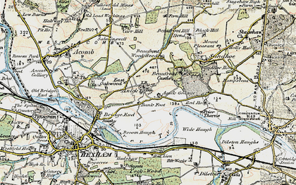 Old map of Wide Haugh in 1901-1904