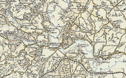 Old map of Ankerdine Hill in 1899-1902
