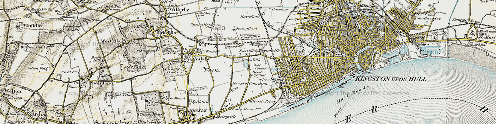 Old map of Anlaby Park in 1903-1908