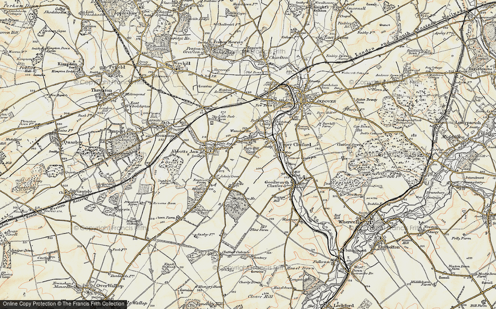 Old Map of Anna Valley, 1897-1900 in 1897-1900