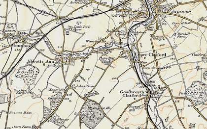 Old map of Anna Valley in 1897-1900