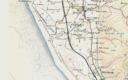Old map of Barfield Tarn in 1903-1904
