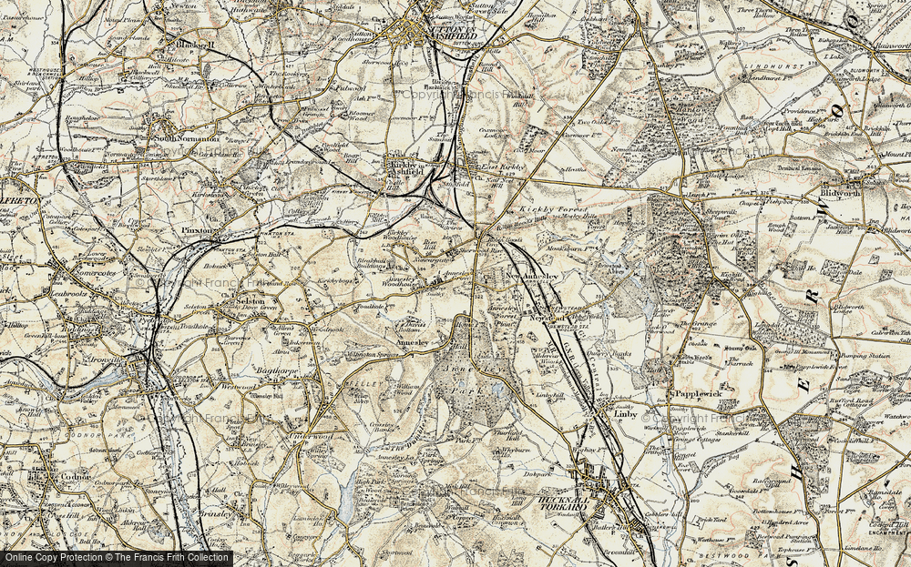 Old Map of Annesley, 1902 in 1902