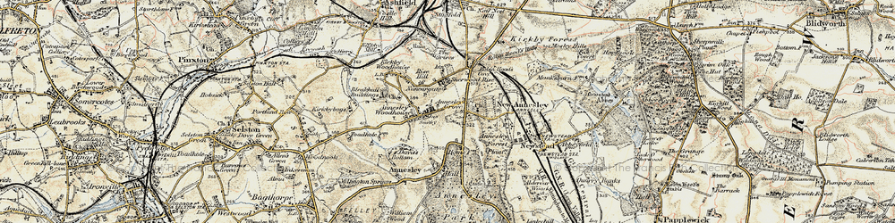 Old map of Annesley in 1902