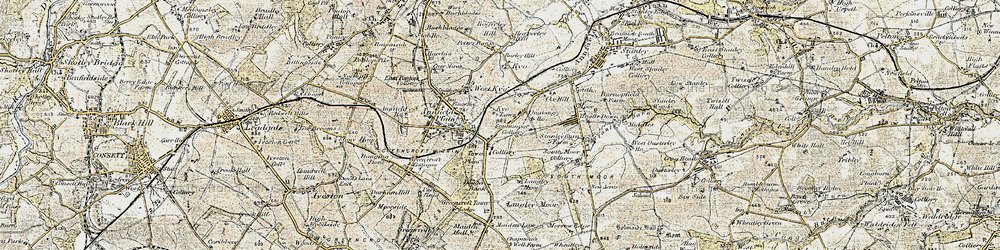 Old map of Annfield Plain in 1901-1904