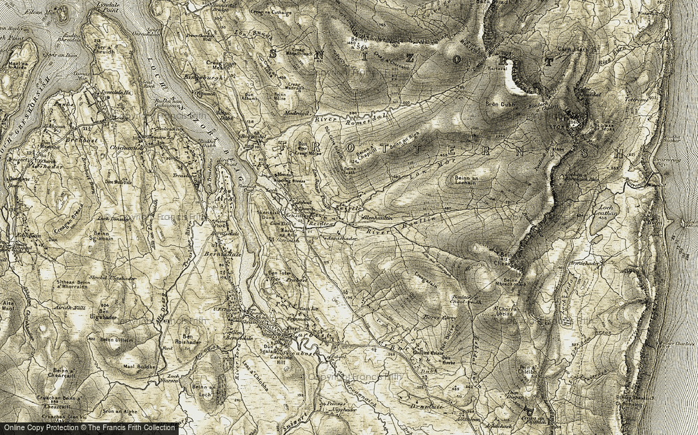 Old Map of Annishader, 1909 in 1909