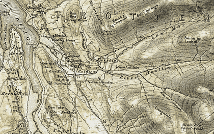 Old map of Annishader in 1909