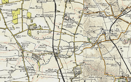 Old map of Annitsford in 1901-1903