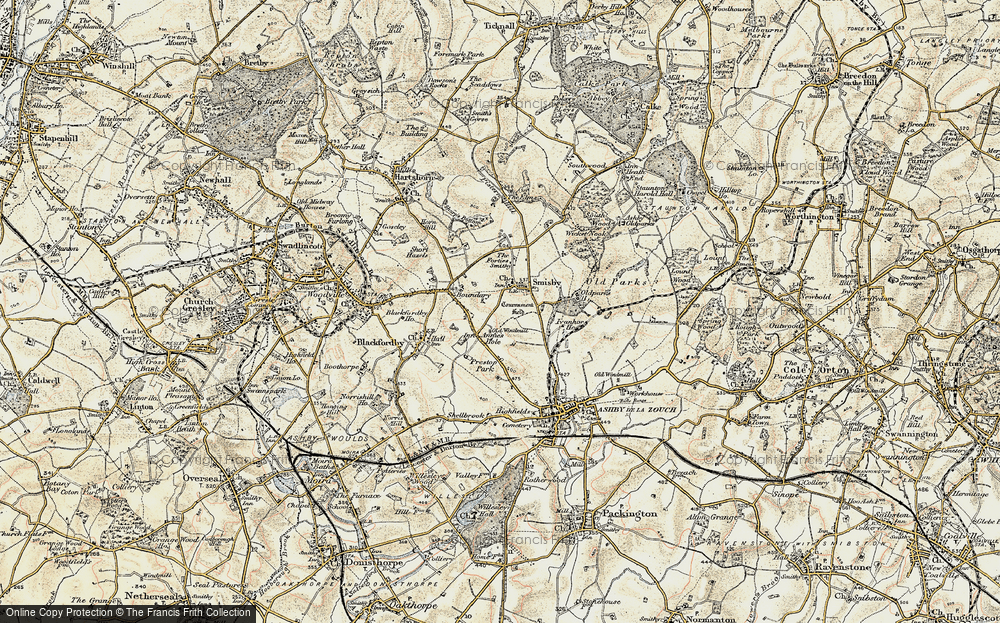 Old Map of Annwell Place, 1902-1903 in 1902-1903