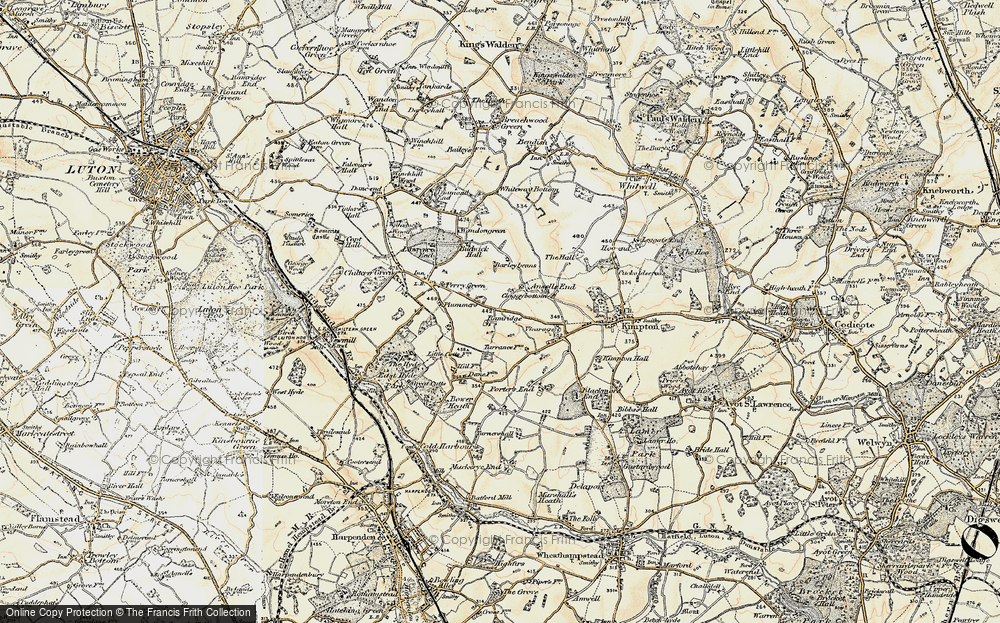 Old Map of Ansells End, 1898-1899 in 1898-1899