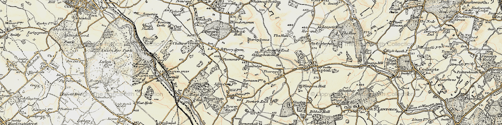 Old map of Ansells End in 1898-1899