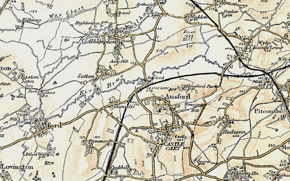 Old map of Ansford in 1899