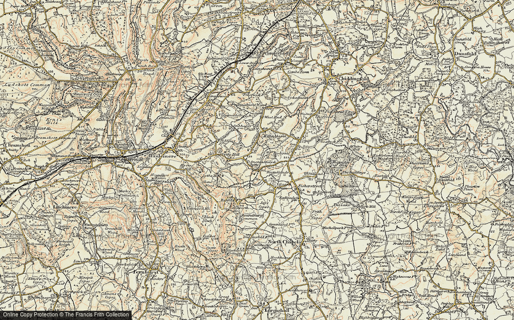 Old Map of Historic Map covering Aldworth Ho in 1897-1900