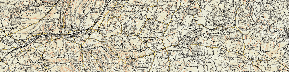 Old map of Aldworth Ho in 1897-1900