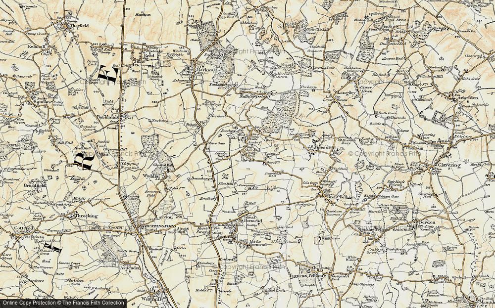 Old Map of Anstey, 1898-1899 in 1898-1899