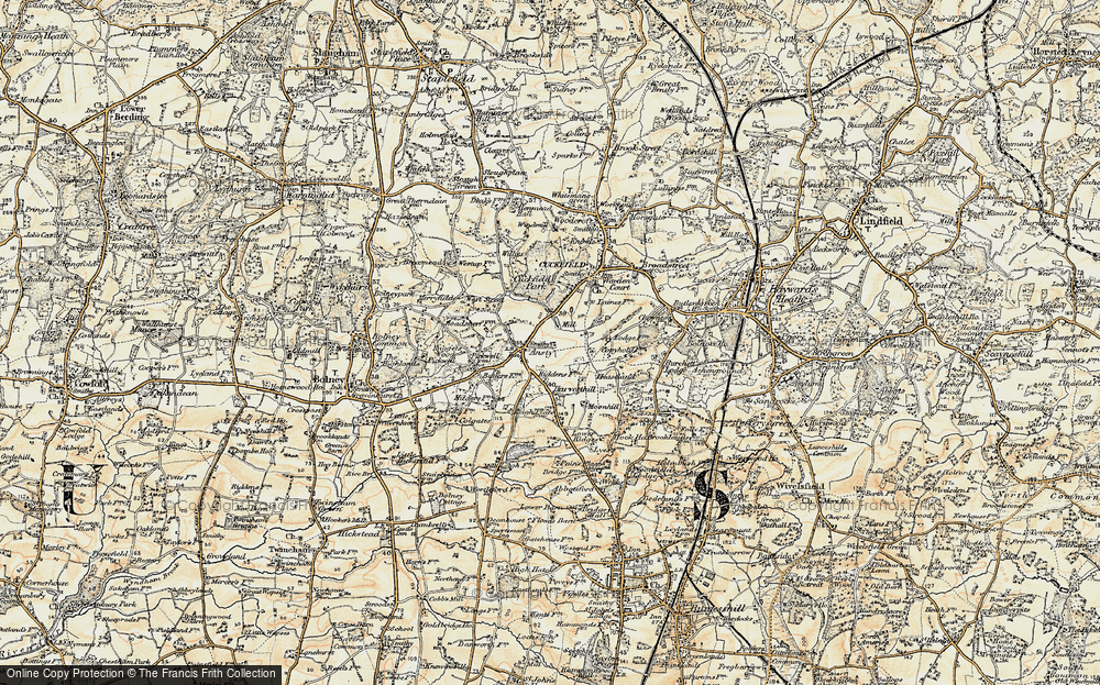 Old Map of Historic Map covering Legh Manor in 1898