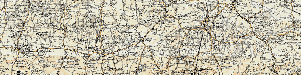 Old map of West Riddens in 1898