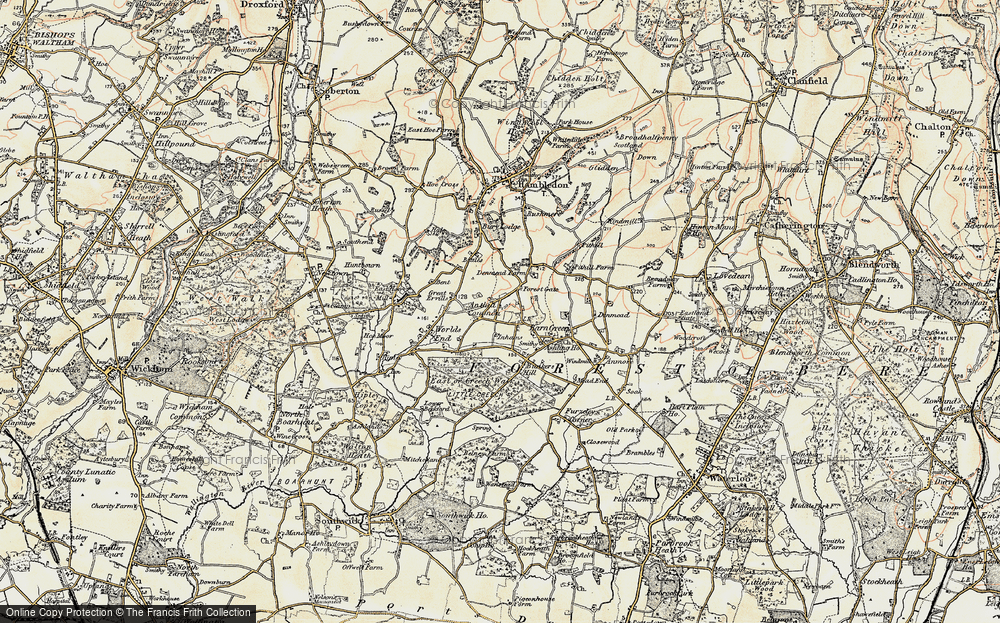 Old Map of Anthill Common, 1897-1899 in 1897-1899