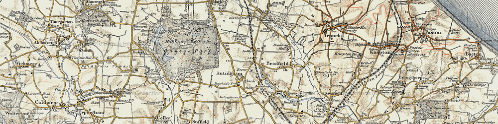 Old map of Antingham Hall in 1901-1902