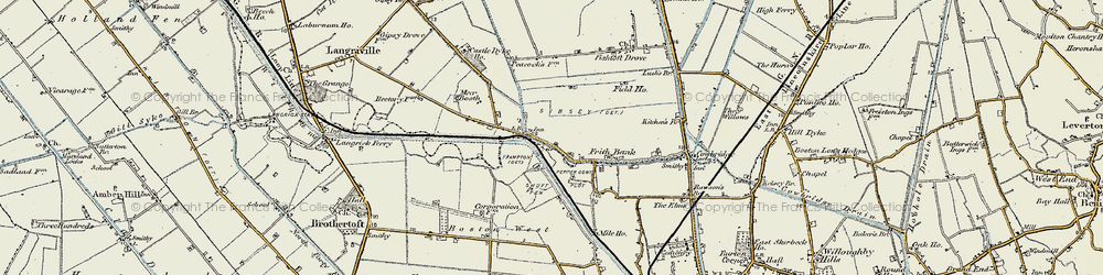 Old map of Anton's Gowt in 1902