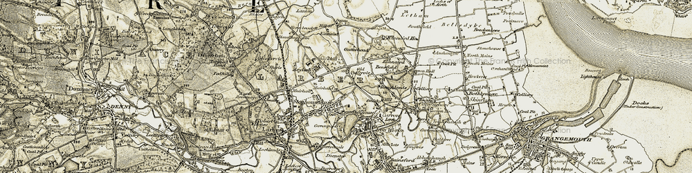 Old map of Antonshill in 1904-1907