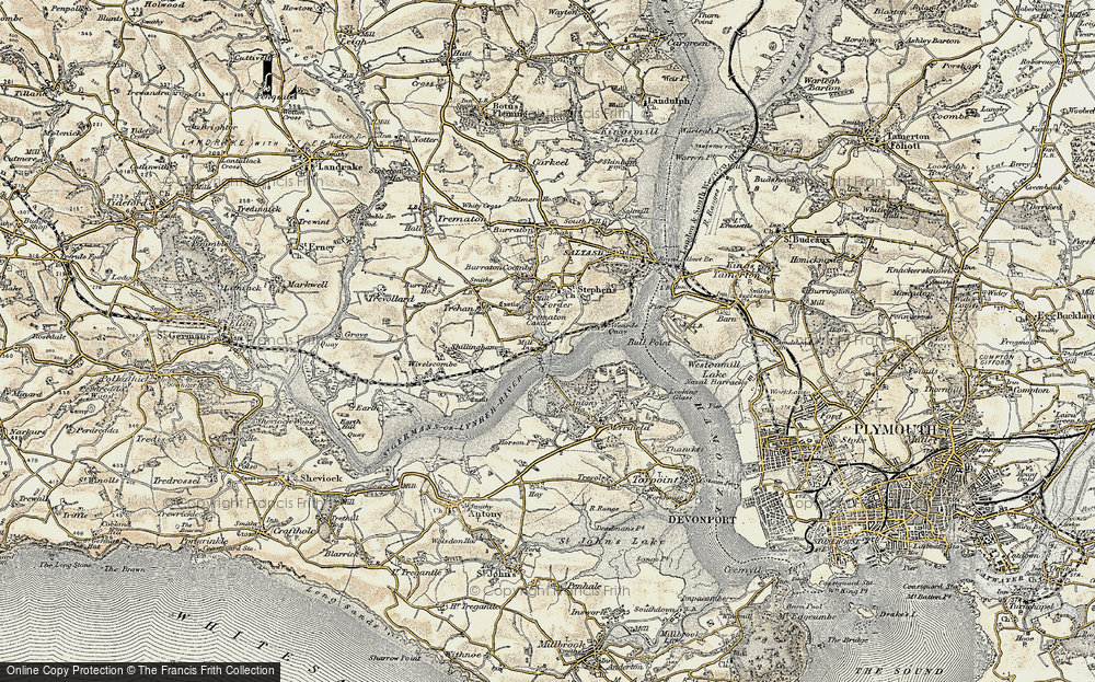 Old Map of Antony Passage, 1899-1900 in 1899-1900