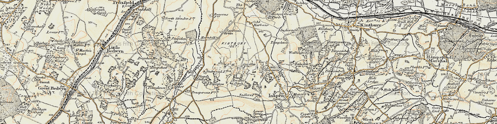 Old map of Anvilles in 1897-1900