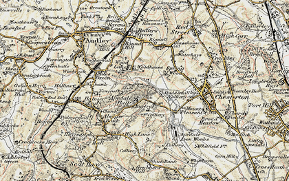 Old map of Apedale in 1902