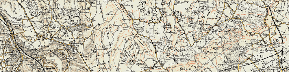 Old map of Aperfield in 1897-1902