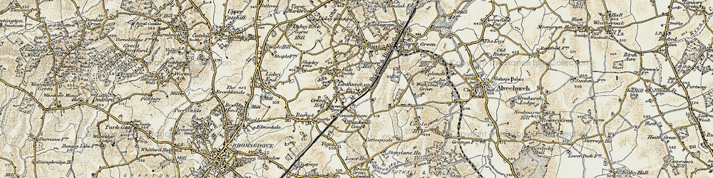 Old map of Apes Dale in 1901-1902