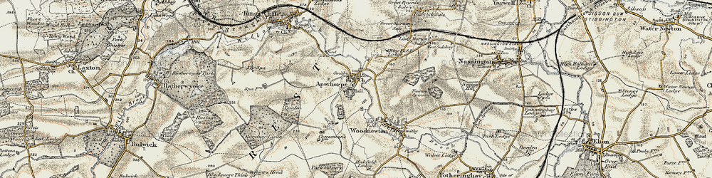 Old map of Tomlin Wood in 1901-1903