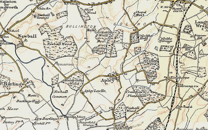 Old map of Apley in 1902-1903