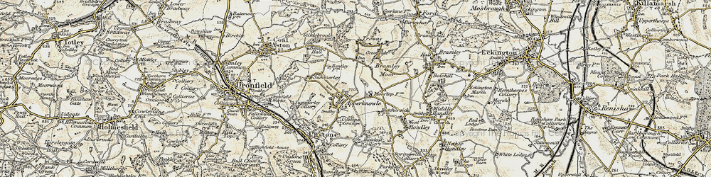 Old map of Apperknowle in 1902-1903