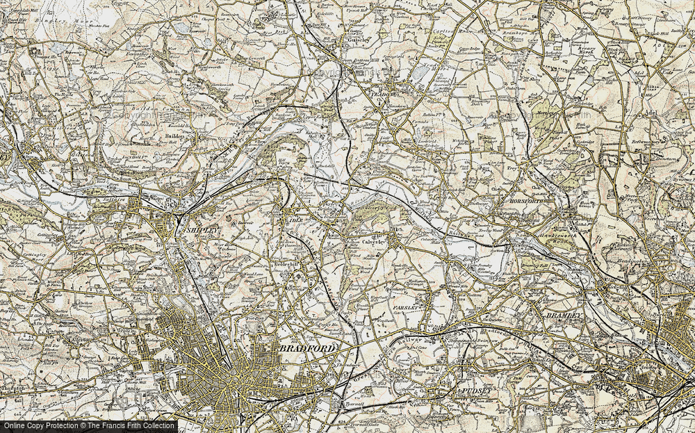 Old Map of Apperley Bridge, 1903-1904 in 1903-1904