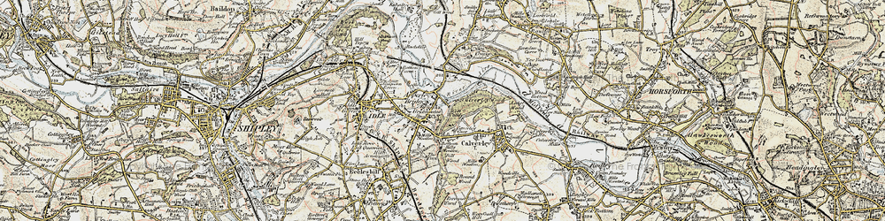 Old map of Apperley Bridge in 1903-1904