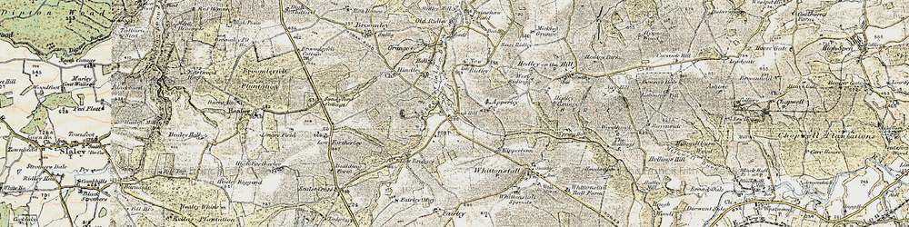 Old map of Wheelbirks in 1901-1904