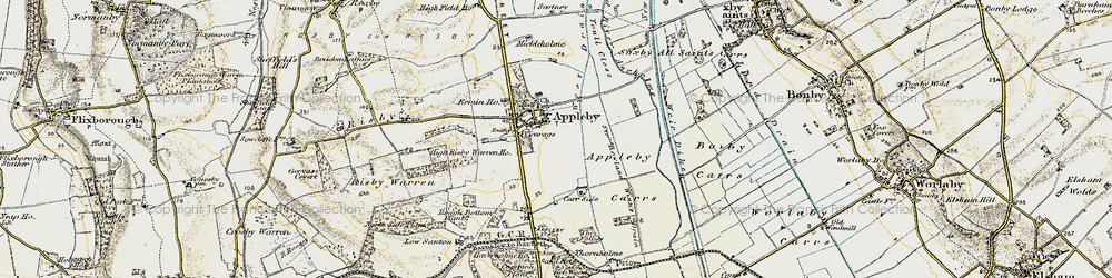 Old map of Appleby in 1903-1908