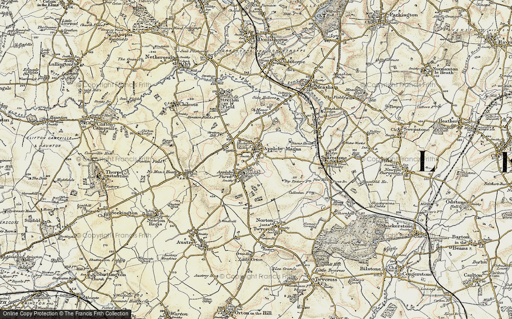 Old Map of Appleby Magna, 1902-1903 in 1902-1903