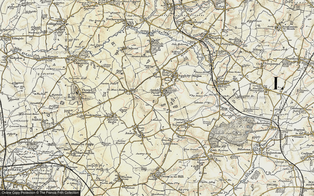Old Map of Appleby Parva, 1902 in 1902