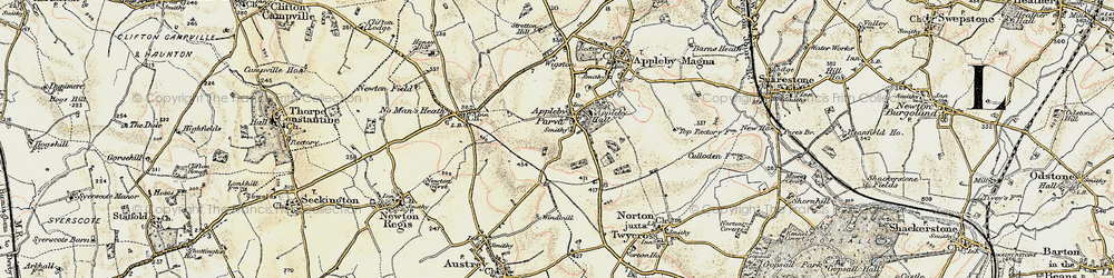 Old map of Appleby Parva in 1902