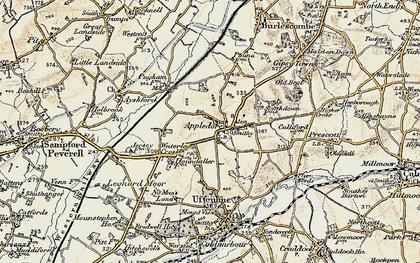 Old map of Leonard Moor in 1898-1900