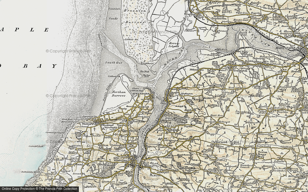 Old Map of Appledore, 1900 in 1900