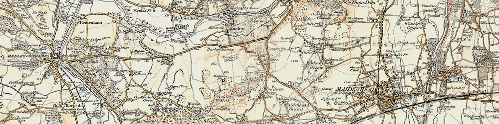 Old map of Applehouse Hill in 1897-1909