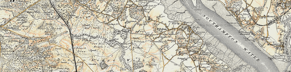 Old map of Applemore in 1897-1909