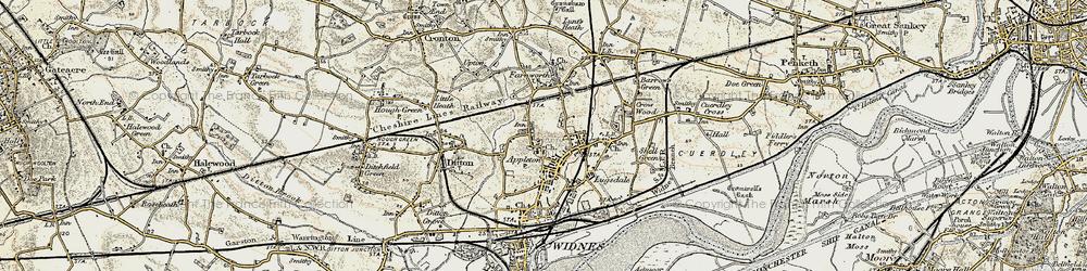 Old map of Appleton in 1903