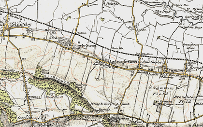 Old map of Appleton-le-Street in 1903-1904