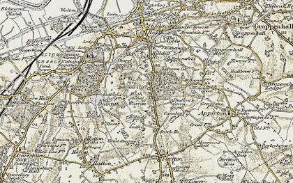 Old map of Appleton Resr in 1902-1903