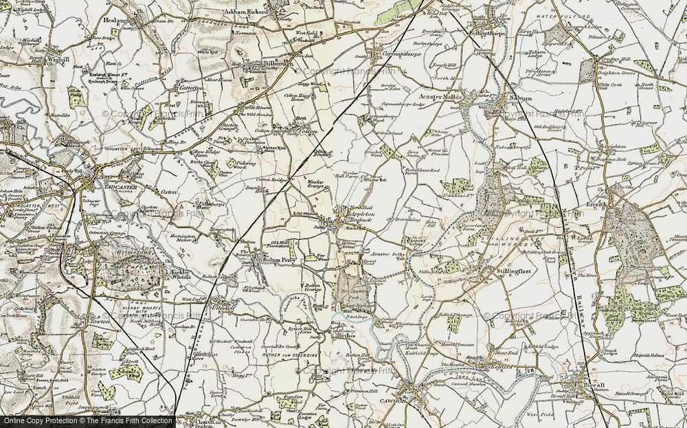Old Map of Historic Map covering Woolas Grange in 1903