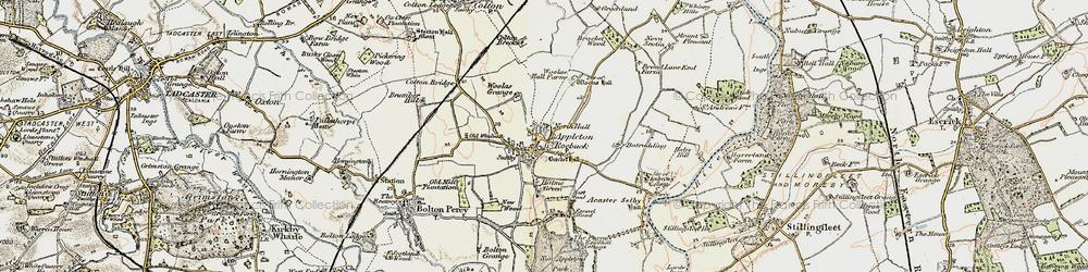 Old map of Appleton Roebuck in 1903