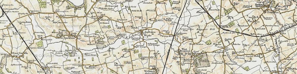 Old map of Appleton Wiske in 1903-1904